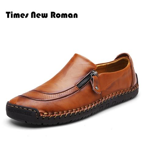 most popular mens casual boots times new brand fashion genuine leather shoes
