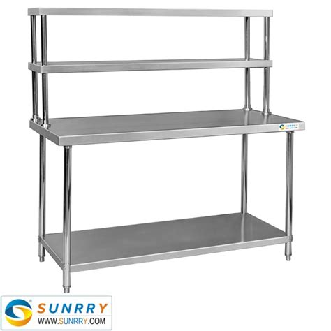 stainless steel work table with two shelves sy wt812r stainless steel working table two layers with