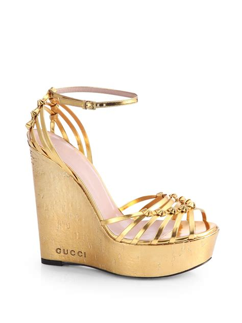 Wedges Gold 1 gold wedge sandals gold cork wedge shoes