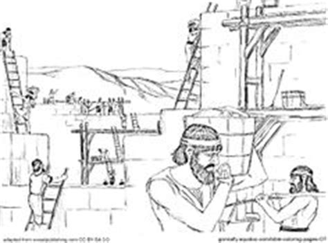 coloring page for nehemiah rebuilding the wall 1000 images about bible nehemiah on pinterest jerusalem