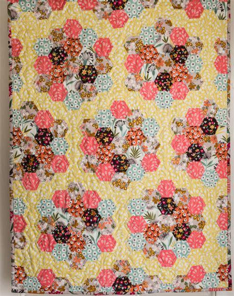 Hexie Garden Quilt Pattern by A Hexie Quilt S Suffolk Garden The