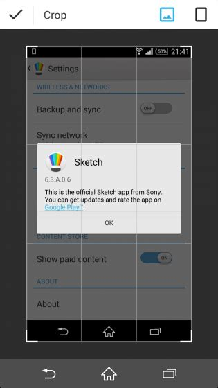 sensme apk sketch update 6 3 a 0 6 adds new crop tool website launched xperia