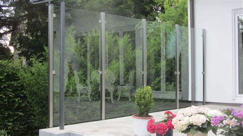 terrasse windschutz glas terrasse windschutz glas edelstahl naturstein design