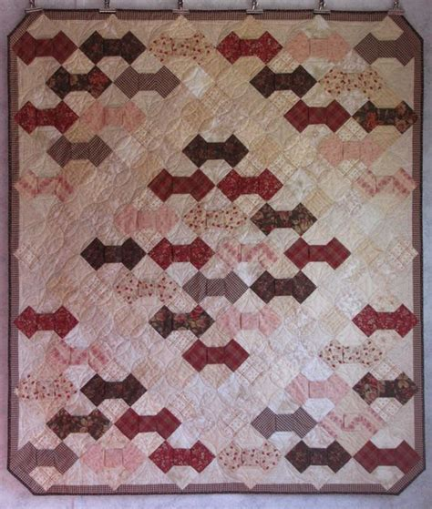 Dimensional Bow Tie Quilt Pattern by Covered In Stitches 187 Bow Tie Quilt Bow Tie Quilts