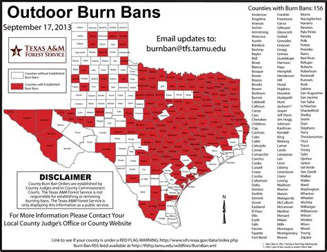 texas county burn ban map all area counties now burn ban 88 9 ketr