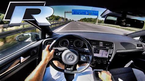 Golf R Autobahn by Vw Golf R Racechip Autobahn Pov 373hp Acceleration