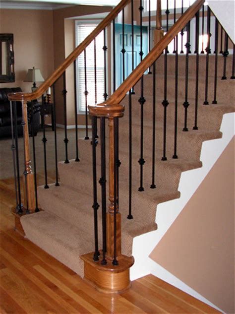 Replace Banister Spindles Staircase Update Iron Spindle Replacement Kc Wood