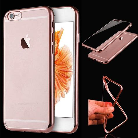 Bumper Backcase Mirror Iphone 44s55s66 Plus 2 shockproof silicone mirror bumper clear back cover for iphone se 5s 5c 6 6s ebay