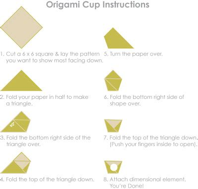 Easy Origami Cup - sei lifestyle s thanksgiving memories