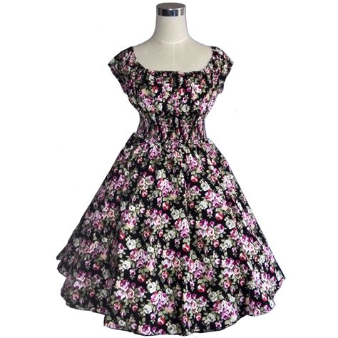 swing jive dresses vintage retro dress rockabilly swing jive floral dots