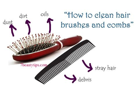 Cleaning Hair From by How To Clean Hair Brushes And Combs 7beautytips