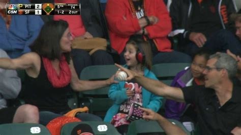 Pirates Fan Tosses Foul Ball To Young Girl Youtube | pirates fan tosses foul ball to young girl youtube