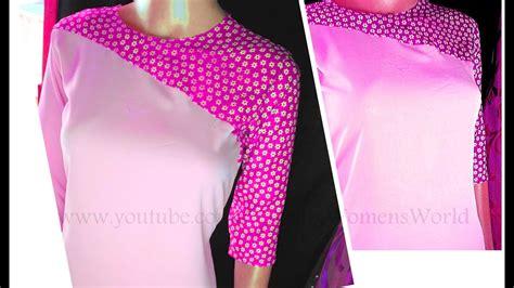 cutting pattern of kurti latest kameez kurti diagonal cut yoke style pattern