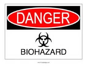 printable biohazard sign