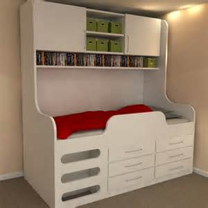 childrens high sleeper storage bed storage solution