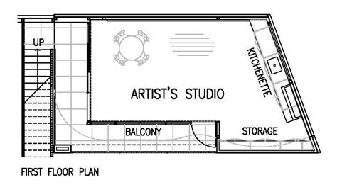 art studio floor plans gallery of artist s studio chan architecture 9