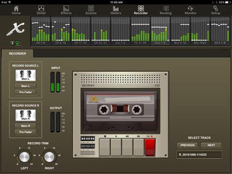 tutorial video recorder x32 mix app tutorial meters recorder tab dbb audio