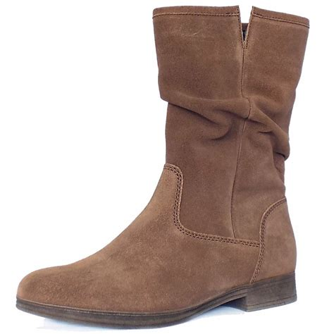 in boots gabor dolce mid calf slouchy boots in brown mozimo