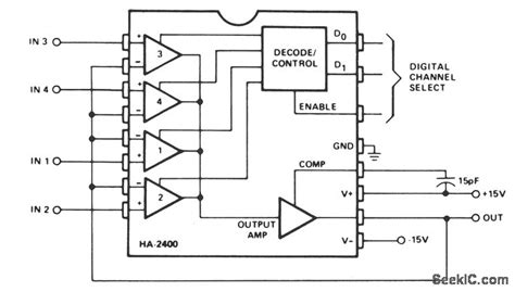 analog multiplexer integrated circuit analog multiplexer with buffered input and output analog circuit basic circuit circuit