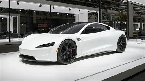new 2020 tesla 2020 tesla roadster makes european debut dressed in white