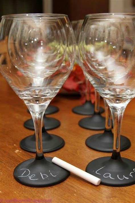 chalkboard paint for glass chalkboard paint on wine glasses ideas