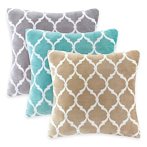 bed bath beyond decorative pillows madison park ogee reversible square throw pillow bed