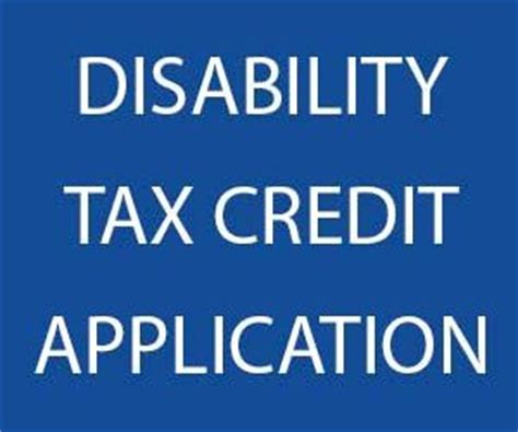 Disability Tax Credit Form Canadian Disability Tax Credit Application Information