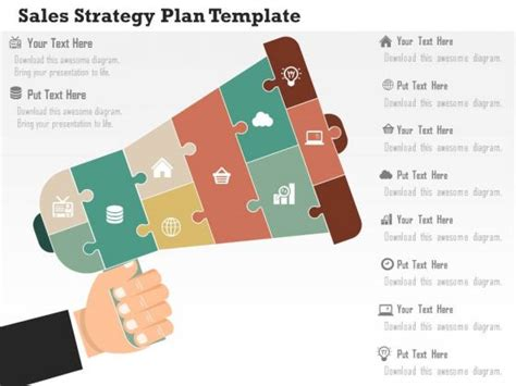 business diagram sales strategy plan template presentation