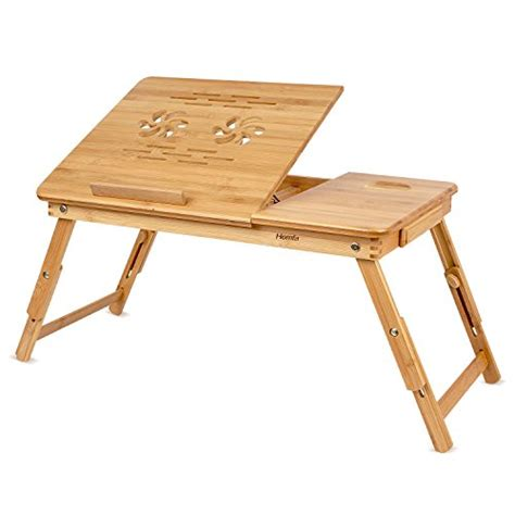 futon tisch homfa bamboo laptop desk adjustable portable breakfast