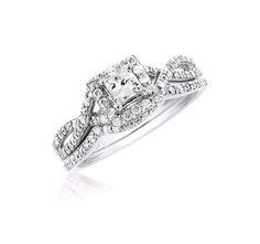 1000 ideas about princess cut bridal sets on