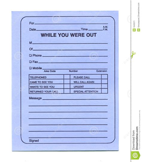 empty telephone memo notepad stock image image 1043371