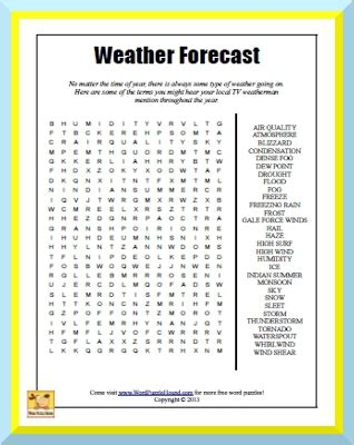 printable word search on matter weather forecast word search no matter the time of year