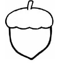 Acorn Drawing Outline by Printable Acorn Pictures Clipart Best