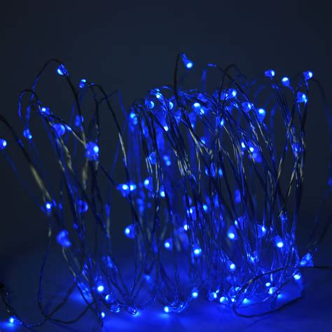 100 Blue Led Fairy Wire Waterproof String Lights 33ft Ac Led Light Strings