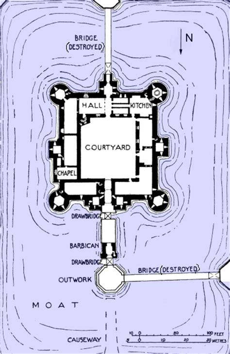 bodiam castle floor plan medieval bodiam