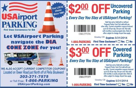 airlines parking coupons