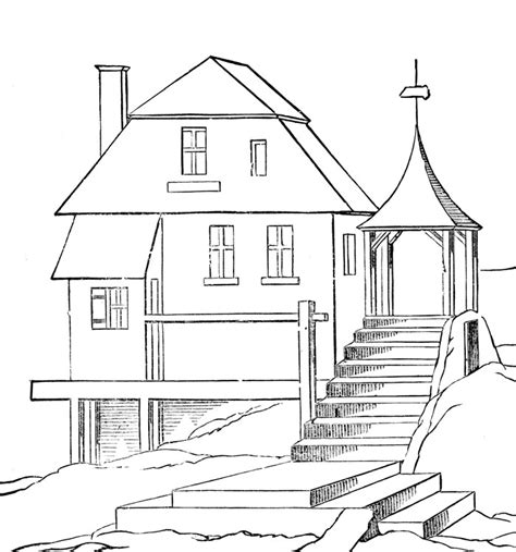 printable coloring pictures of a house free printable house coloring pages for kids