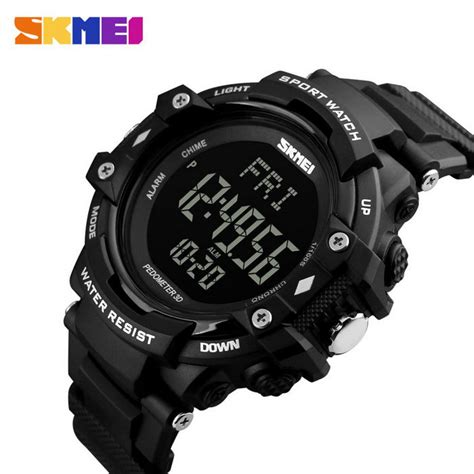 Jam Tangan Original Skmei S Shock Sporty Design Anti Air jual jam tangan pria skmei digital s shock pedometer sport original dg1180s