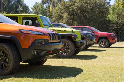 jeep lineup 2016 2017 jeep grand cherokee and jk concepts go off roading in