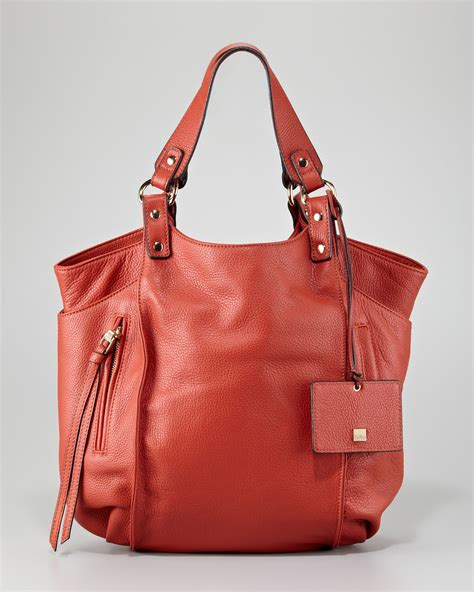 Neiman Sale Continues With Goods From Marc Kooba Tracy by Kooba Logan Leather Tote Bag In Coral Lyst