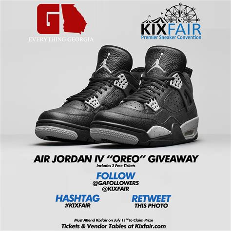Air Jordan Giveaway - air jordan iv quot oreo quot giveaway gafollowers