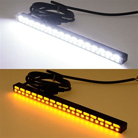 Drl Slim 20 Cm Smd 5730 ultra slim switchback ao white 40 smd led daytime running light bar drl kit for honda
