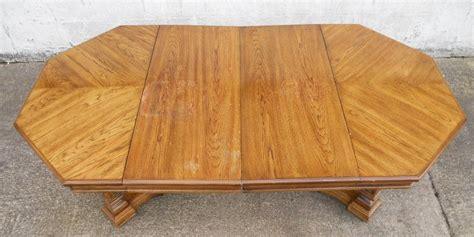 octagonal light oak extending pedestal dining table seat ten sold