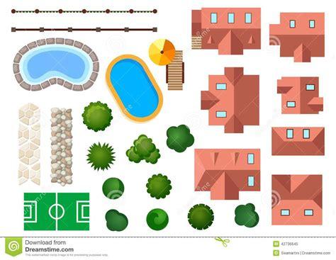 Landscape Architecture Elements Landscape Garden And Architectural Elements Stock Vector