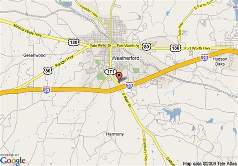 map weatherford texas map of sleep inn suites weatherford