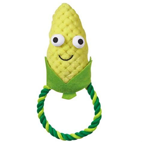 puppy corn stuffed animal grriggles happy veggies rope tug corn baxterboo