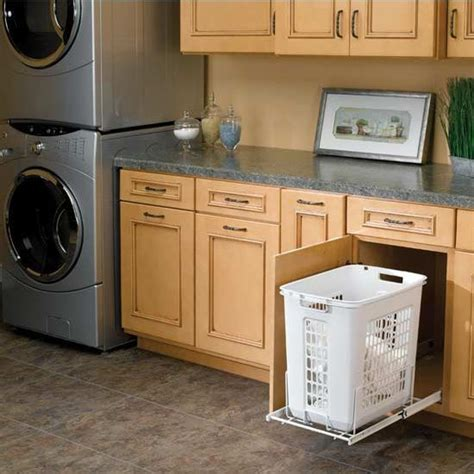 Rev A Shelf Laundry by Rev A Shelf White Pull Out Polymer Laundry Her For