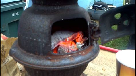 super tiny pot belly wood stove youtube