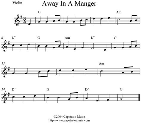 take breath away testo violin sheet quot away in a manger quot in the