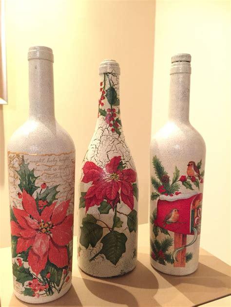Decoupage Bottle Botol Decoupage 3 decoupage σε μπουκάλια garrafas e vidros decoupage bottle and craft